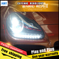 JGRT Car Style LED Headlights For Porsche Cayenne 2004 2006 For Head Lamp LED DRL Lens