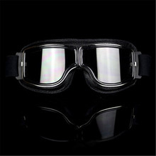 FREE shipping Retro  Vintage Motorcycle Aviator Goggles Glasses Cruiser Motocross Scooter Moto Helmet For Harley