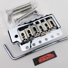 цены на Wilkinson Chrome silver ST Electric Guitar Tremolo System Bridge WOV09  в интернет-магазинах