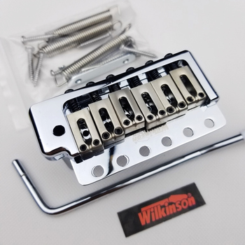 Wilkinson ST Electric Guitar Fixed 6 Screws Tremolo System Bridge Chrome silver Gold WOV09 wilkinson 6 screw type st electric guitar tremolo system bridge for strat guitar chrome silver wov02