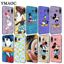 YIMAOC Mickey Mouse และ Donald Duck Soft สำหรับ Samsung Galaxy A3 A5 A6 A7 A8 A9 Plus หมาย(China)