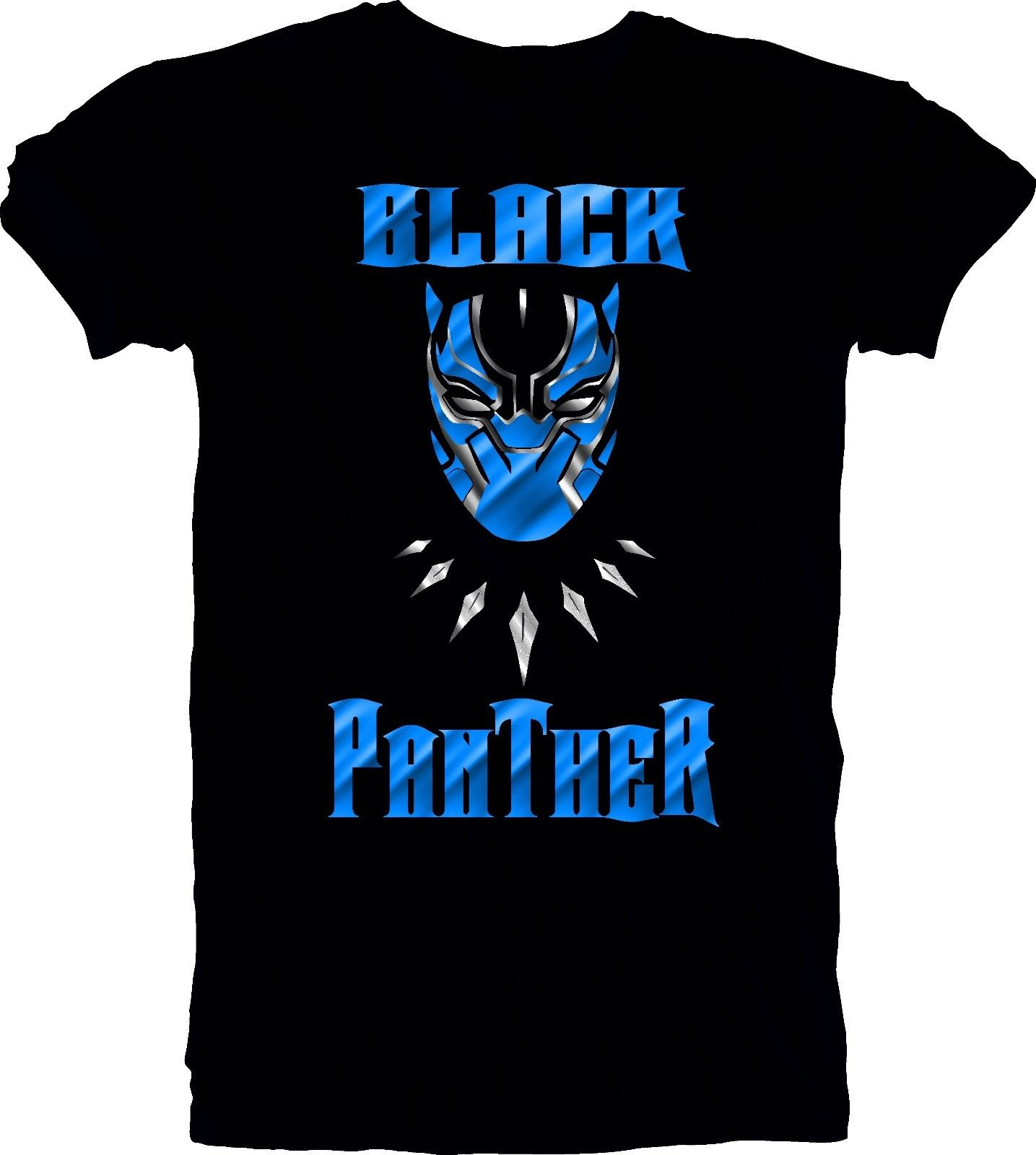 Black Panther Mask Graphic T-Shirt Marvel Comic Movie Men's Unisex Black Tee S Novelty O-Neck Tops New Brand-Clothing T Shirts