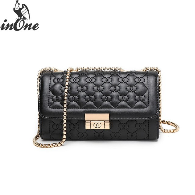 23584dbe9a2a INONE Luxury Bags For Women 2018 2019 Square Messenger Shoulder Bags  Crossbody Quilted PU Le Boy