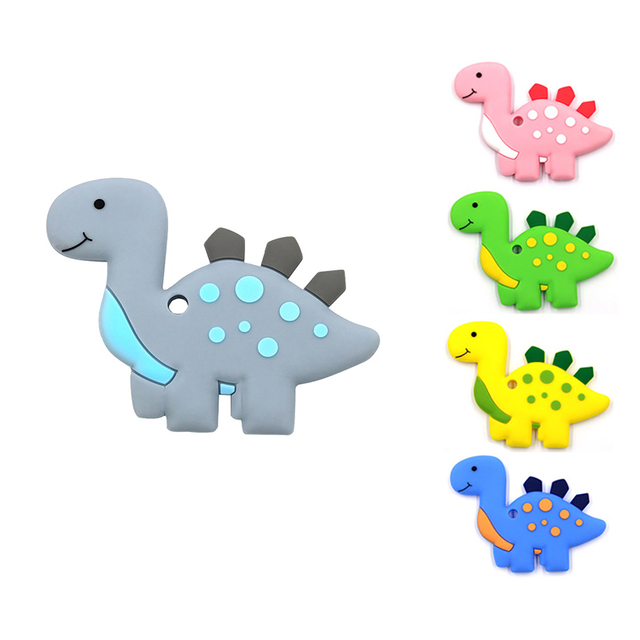 Image of: Cartoon Vector Pc Baby Silicon Colorful Cute Cartoon Dinosaur Teething Teether With Safety Silicone Chew Toys Baby Toddler Toys Aliexpress Pc Baby Silicon Colorful Cute Cartoon Dinosaur Teething Teether