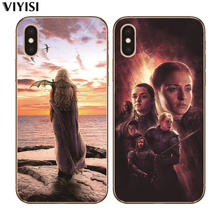For IPhone X Case 7 8 6 6S Plus 5 5S SE XS MAX XR Etui Daenerys Dragon Jon Snow Tyrion Lannister Phone Game Thrones Coque
