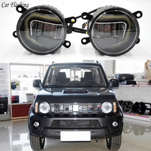 3 IN 1 Functions Auto LED DRL Daytime Running Light Car Projector Fog Lamp with yellow signal For Suzuki Jimny 2007 2016