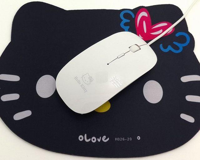 Cartoon Design Verdrahtete Optische Rosa Hallo Kitty Maus Mäuse ...