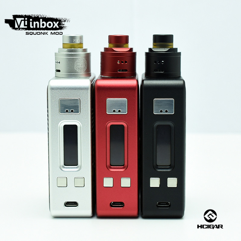 Original e Cigarette HCigar VT inbox Kit DNA75 chipset HCigar 75W Box Mod VT75 bottom feeder squonker with Maze V1.1 atomizer