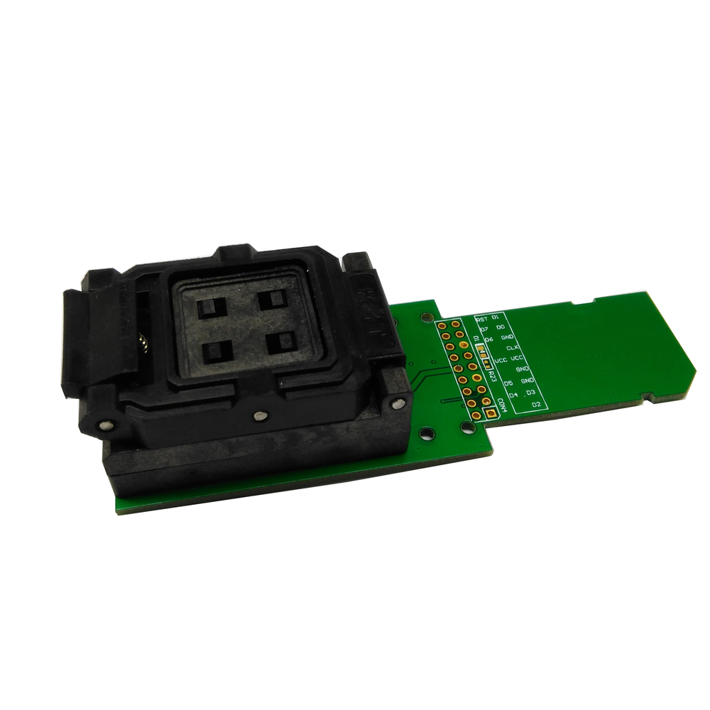 eMCP162/186 Test Socket BGA162 BGA186 Reader IC Size 12x16mm Pin Pitch 0.5mm Nand Flash Programmer Adapter Data Recovery
