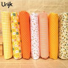 Urijk 7PCs/set 25*25cm DIY PatchworFabrics For Sewing The Cloth Baby Quilting Cotton Fabric For Needlework Kids Bedding Textile