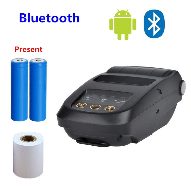Thermal Printer Bluetooth + USB Interface Portable Mobile Mini Receipt Ticket label Printer Support Apple Windows image