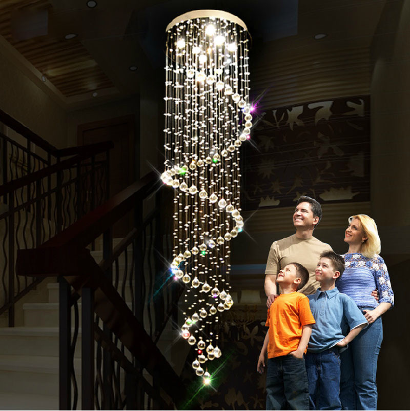 Modern-Crystal-Pendant-Dome-LED-Ceiling-Lamp-GU10-Cristal-Chandelier-Light-Stairs-Aisle-Porch-Parlor-Hallway