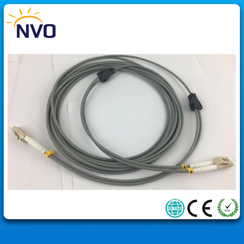 10Pcs/Lot,LC/UPC-LC/UPC MM(62.5/125),DX,Dia:3.0mm,L:5M,PVC Jacket,Gray,Armored Dual-core Indoor Fiber Optic Patch Cord Jumper