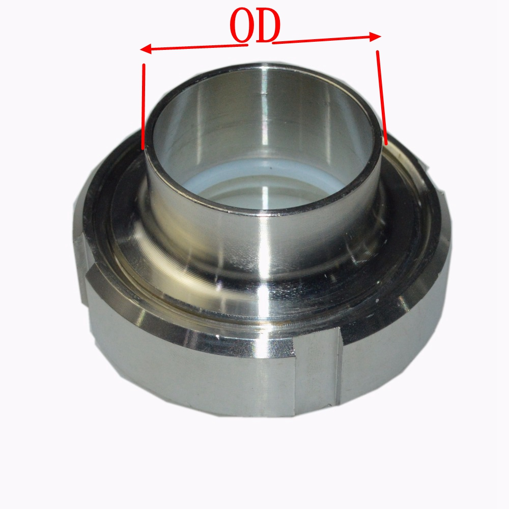 Sanitär 57mm Ss304 Edelstahl Sanitär Sms Weld Auf Buchse Union Set Rohrfitting Für Lebensmittelindustrie Rohrverbindungsstücke