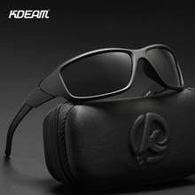 KDEAM Polarized Sunglasses Men Women Square Brand Design Classic Male Black Sports Sun Glasses For Drive Goggle gafas de sol