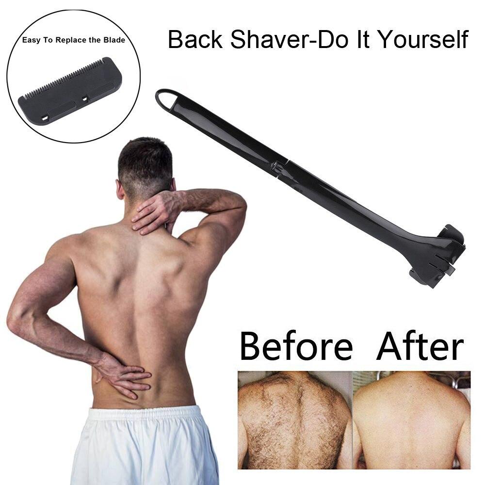 High Quality <font><b>Manual</b></font> <font><b>Back</b></font> Collapsible <font><b>Hair</b></font> <font><b>Shaver</b></font> Remover Body Trimmer Self Groomer Shaving Easy to operate p# dropship