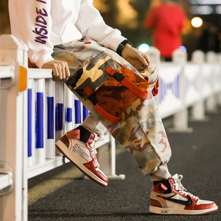 e77d6b554905be Loose Harem Jogger Pants Men Cotton Military Sweatpants Camo Cargo Pants  Men Joggers Japanese Streetwear Men Clothes 2018 5na110