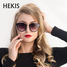 HEKIS Sunglasses Women Vintage Sun Glasses Ladies Retro Luxury Brand Designer For Female Photochromic D1736