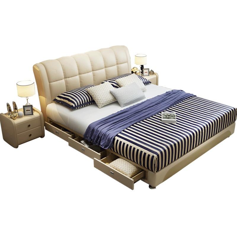 Letto A Castello Kids Frame Mobilya Bett Mobili Single Modern Bedroom Furniture Leather Mueble De Dormitorio Cama Moderna Bed