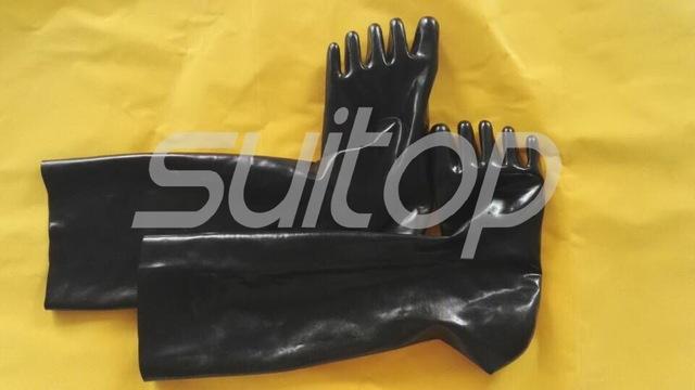 Largo calcetines del dedo del pie de goma de látex en negro tamaño m envío gratis