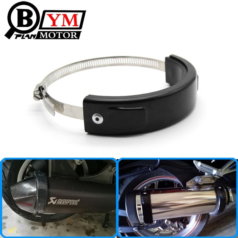 Motorkerékpár tartozékok Universal Fit 100MM-140MM ovális verseny hatszögletű kipufogócső védőfedél fekete