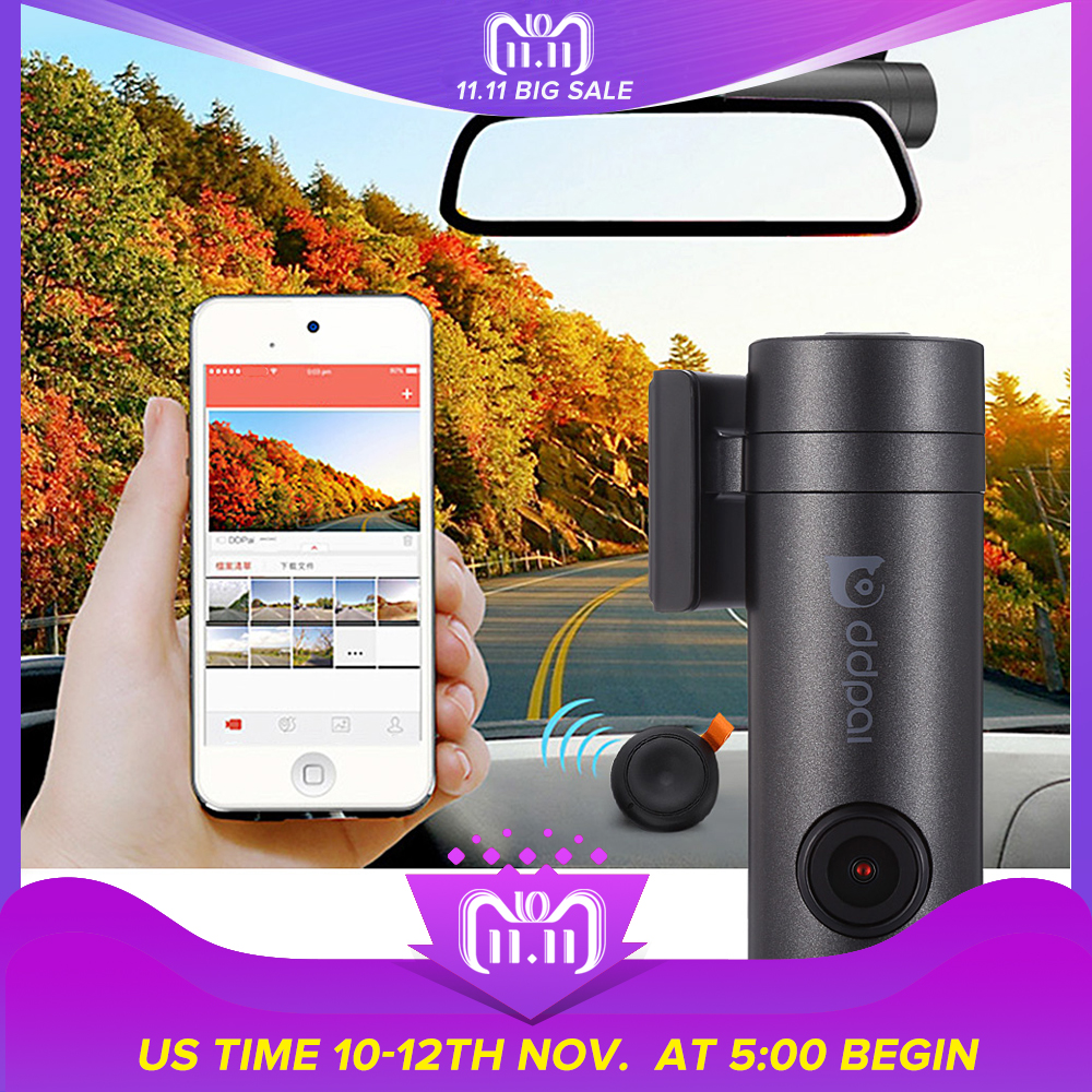 New DDPai mini WiFi Car DVR 1080P FHD Night Vision Dash Cam Recorder Rotatable Lens Car Camera Wireless Snapshot Auto Camcorder car camera car dvr wifi 1080p hd car dvrs night vision dash dual cam recorder rotatable lens wireless snapshot auto camcorder