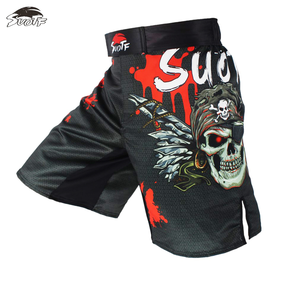 New Gorilla Ape MMA Shorts Muay Thai Boxing Short Pants Fighting Kick Men Fight