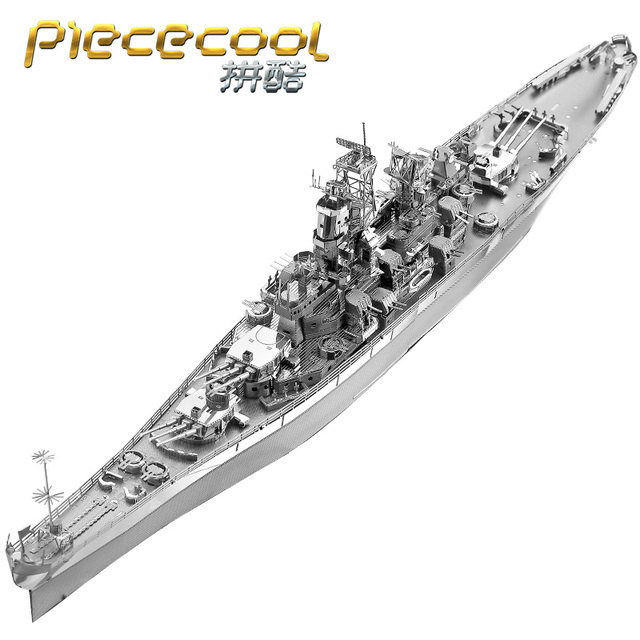 PIECECOOL P096-S U S USS MISSOURI BB-63 3D Metal Assembly Model Jigsaw  Puzzle Gift Collection Military Subject Matter Nagato
