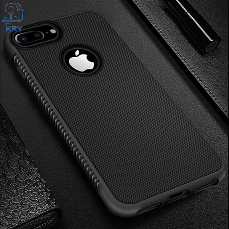 KRY Soft TPU Phone Case For iPhone 7 Cases Luxury Silicone Black Cover For iPhone X 8 8 Plus 6 6s Plus Xr Xs Max Case(China)