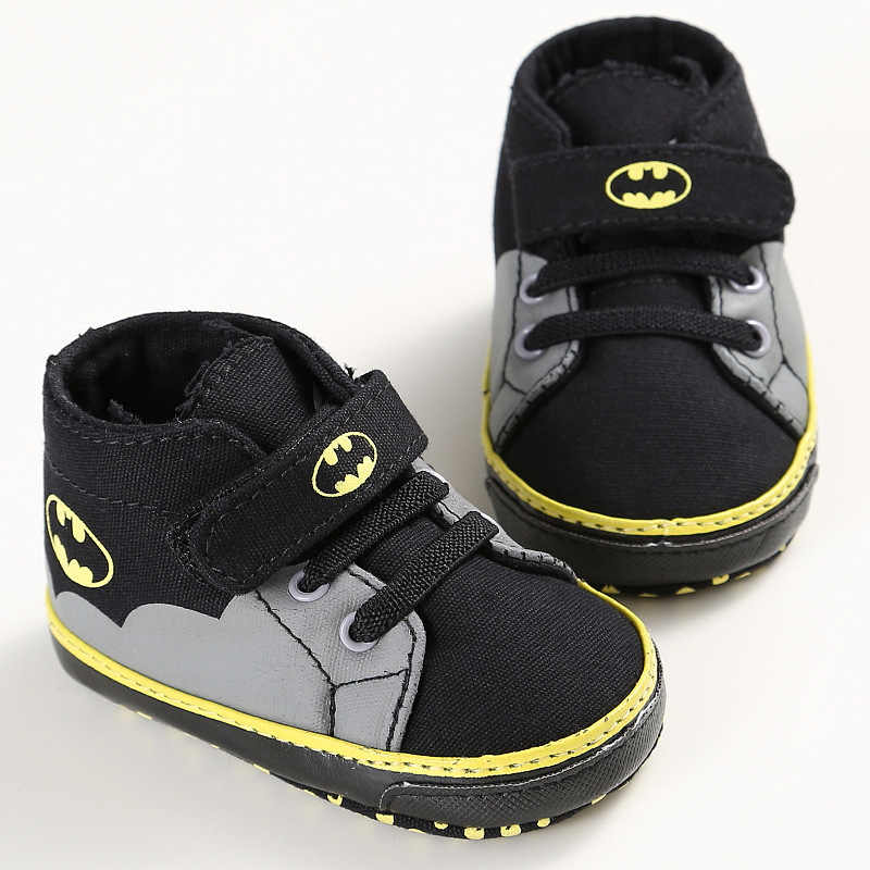 ROMIRUS Newborn Baby Shoes Infant Toddler Cartoon Batman Fashion Lace-Up Baby  Girl Boy Kids acbac9b54521