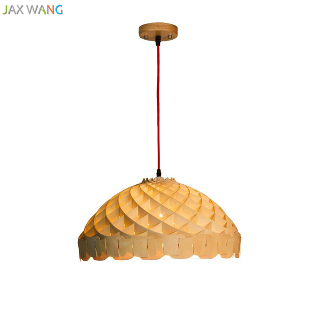 Moderne Kreative Einfache Holz Lampen Pendelleuchten Restaurant Bar Kaffee  Esszimmer Holz Lampenschirm LED Hängeleuchte