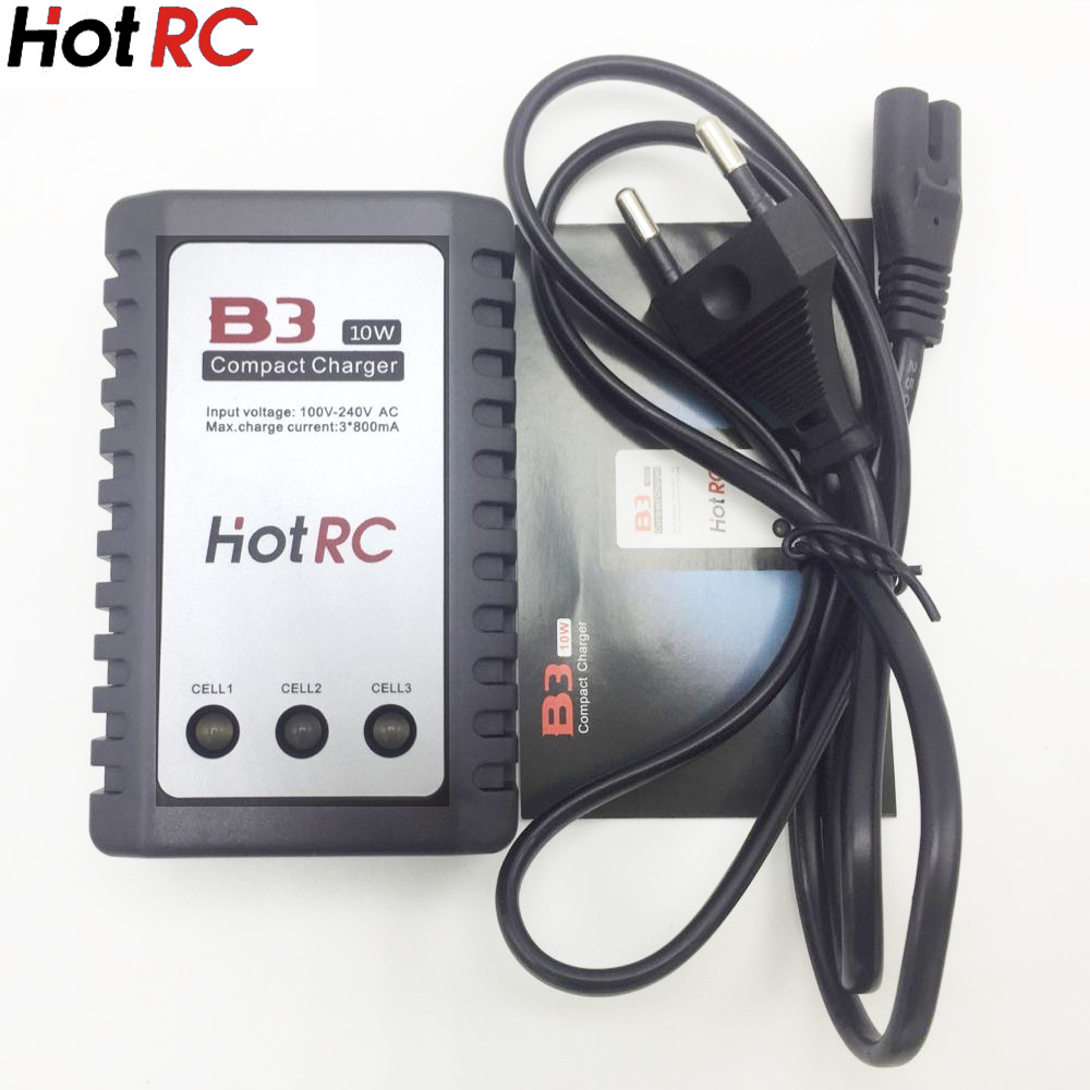 1pcs HotRC B3 LIPO Battery Charger 7.4v 11.1v Li-polymer Lipo Battery Charger 2s 3s Cells for RC LiPo EU&US b3 20w 2s 3s lipo battery compact easy balance charger for rc model us plug free shipping us eu plug