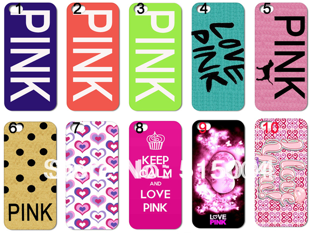 New Design LOVE PINK Hard Back Case For Iphone 5 5th 10pcs/lot +free  Shipping