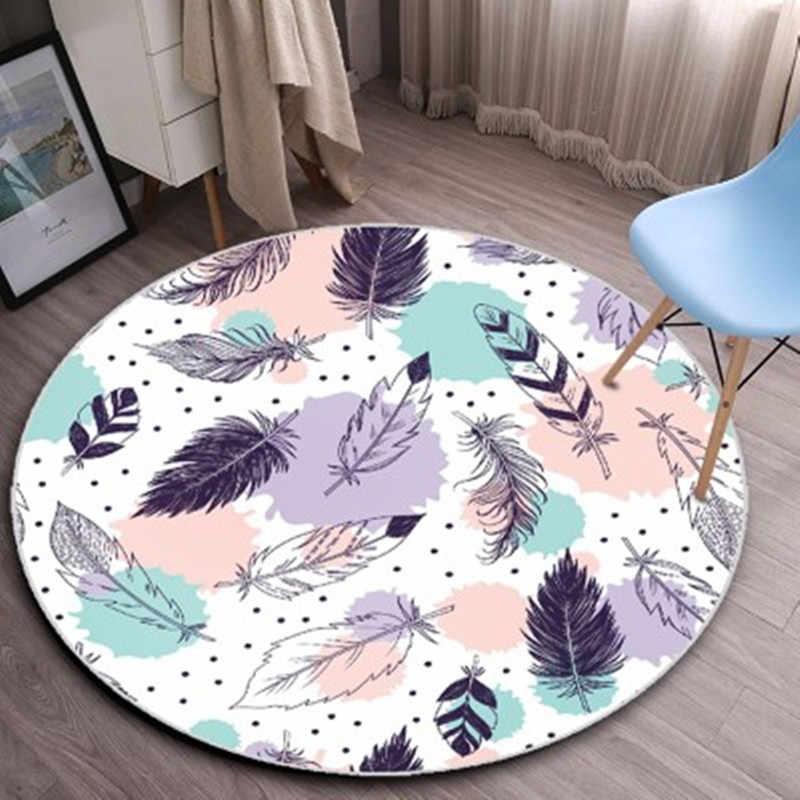 Мода Nordic стиль круглый ковры S для гостиная компьютер стул области ковры  детская игровая палатка пол 400526897e41b