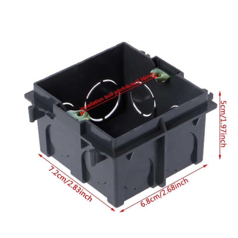 Cassette de montage mural de boîte de jonction en PVC de Type 86 de qualité supérieure pour JUL10-A de Base de prise de courant