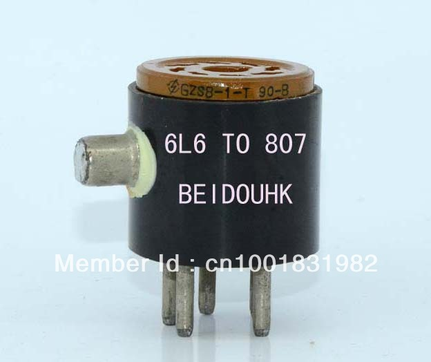 6L6G to 807 Vacuum tube adapter socket converter