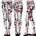 Tight Trouses For Women Fashion Cartoon Mickey Printed Fitness Pants Ladies White Slim Penclil Pants pantalones mujer QZ1750