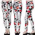Trouses apretados Para Las Mujeres de Dibujos Animados de Moda Mickey Impreso Gimnasio Damas Pantalones Blancos Delgados Penclil Pantalones mujer pantalones QZ1750