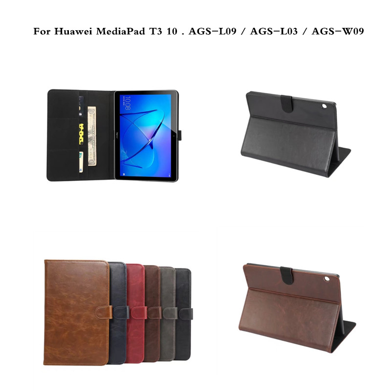 Case For Huawei MediaPad T3 10 Tablet Stand Business Cases For 9.6 inch Honor Play Pad 2 AGS-L09 AGS-L03 AGS-W09 Luxury Cover