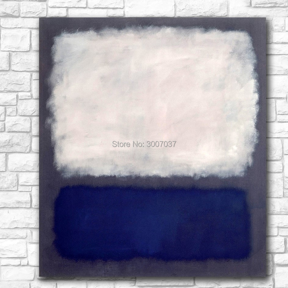Large Size Blue and Gray by Mark Rothko Oil Painting Wall Art Paintings Picture Canvas Painting Art Home Decor Oil Painting in Painting Calligraphy from Home Garden