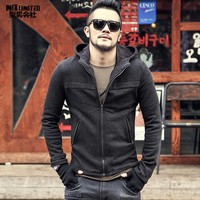 Men hoodie Sweatshirt Cotton brand design New Men Winter Hip Hop Zipper casual hooded solid coat mens warm jacket Autumn F2022