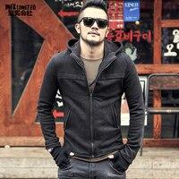 Men hoodie Sweatshirt Cotton brand design New Men Winter Hip Hop Zipper casual hooded solid coat mens warm jacket Autumn