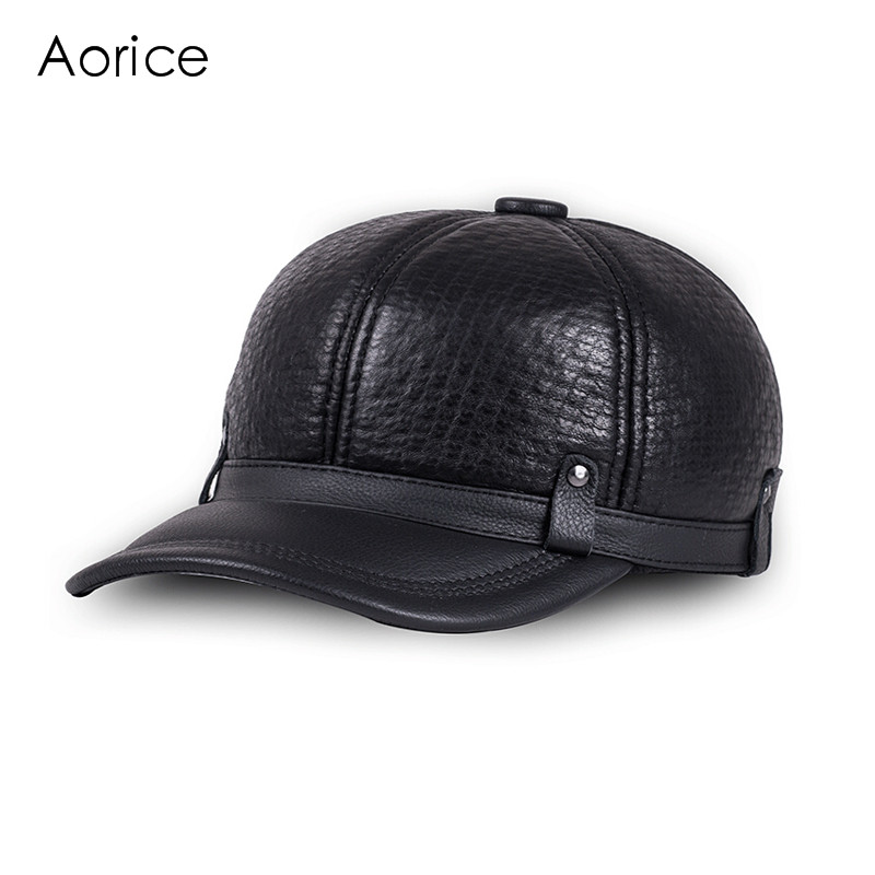 39f4acc8be9 HL070 Genuine Leather hat cadet cap biker motorcycle star studded men s  hats caps brand new mens  baseball cap-in Baseball Caps from Men s Clothing    ...