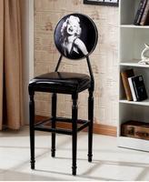 Retro bar chair modern simple iron art American bar stool rotating lift chair European bar chair family back.