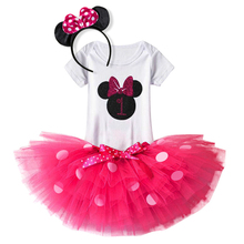 Princess Infant Girl Rompers Tutu Dress Baby Girls Clothes Sets Cotton Clothes My first Birthday Costumes one Year baby Clothing