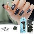 Tiras de uñas de Arte Polaco Negro Brillo Colorido Conjunto 16 unids Fit Todas Las Uñas Etiqueta Engomada Del Clavo Nuevo