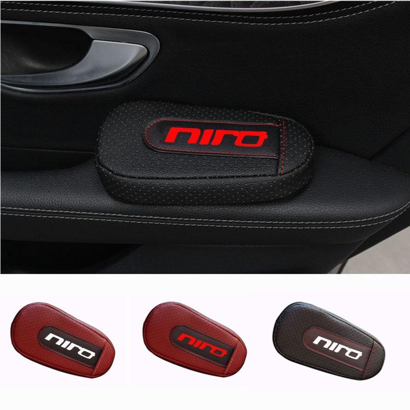 Soft Leather Leg Cushion Knee Pad Armrest Pad Interior Car Accessories For Kia Niro