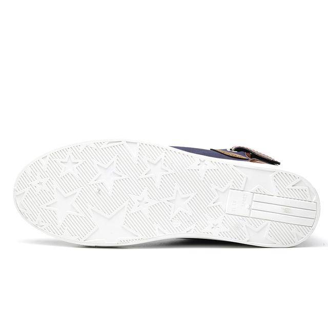 Fashion High Top Men Shoes Canvas Men Casual Shoes For Autumn Winter Male Footwear Patchwork Plus Size 45 46 47 RMC-165