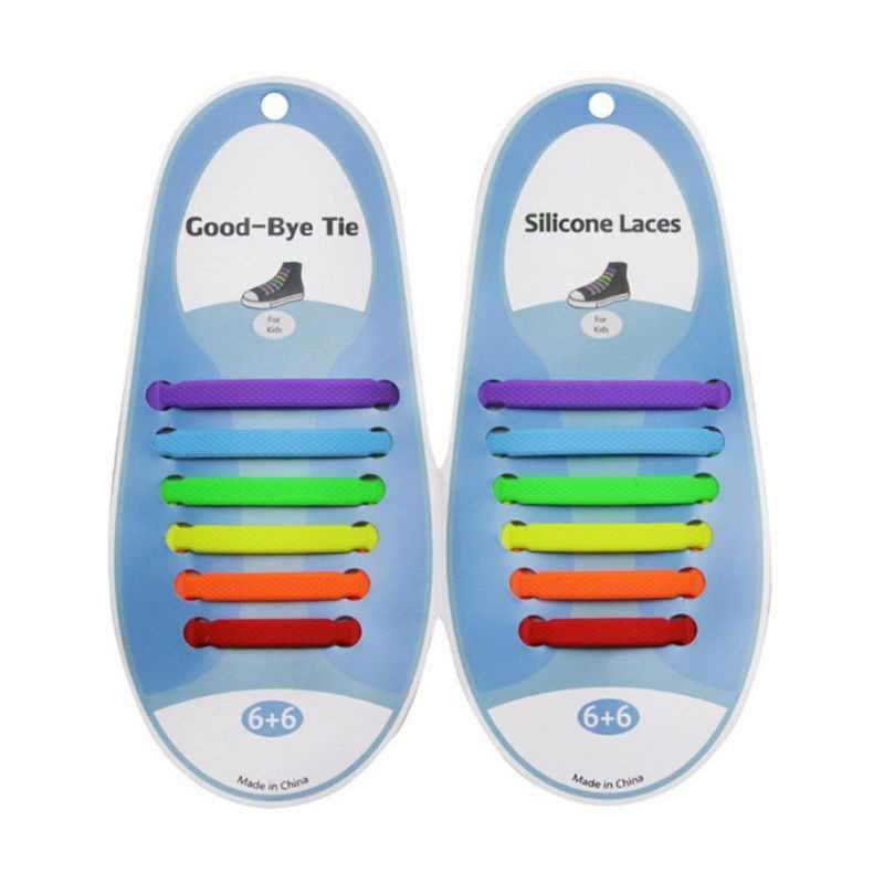 12 adet Bağcık Ayakkabı Kauçuk Ayakkabı Bağı Bebek Elastik Silikon Rahat Ayakkabı Bağcıkları Çocuk Özel Ayakkabı Bağı Hiçbir Kravat Ayakkabı Bağcıkları çocuklar