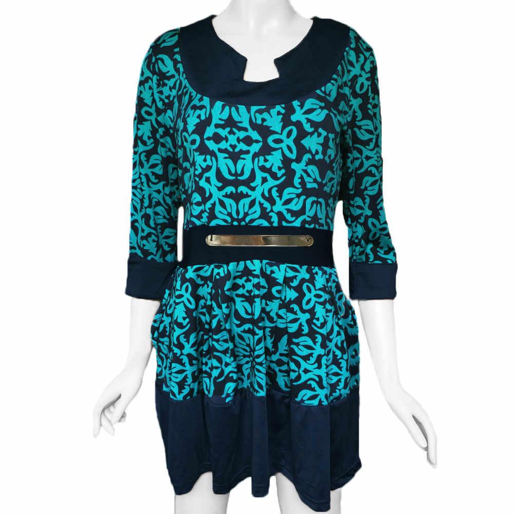 2019 весенние модные женские зимние платья с геометрическим принтом и круглым вырезом, женские элегантные вечерние мини-платья с коротким рукавом, Vestidos
